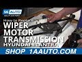 How To Install Replace Windshield Wiper Motor and Linkage Transmission 2001-06 Hyundai Elantra