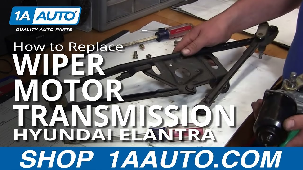 how to install replace windshield wiper motor and linkage transmission 2001 06 hyundai elantra [ 1280 x 720 Pixel ]