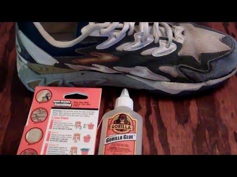 Fixing My Tennis Shoe with Gorilla Glue