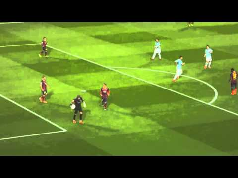 Victor Valdes horror injury from the stands   Barcelona vs Celta Vigo 3 0 2014 HD
