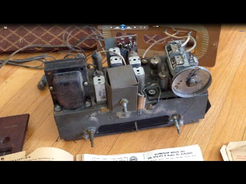 1950 sears silvertone radio repair attempt