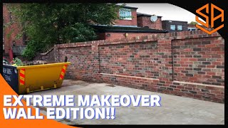 LARGE BOUNDARY WALL PART 3....WALL COMPLETE INC RAKED BRICKWORK