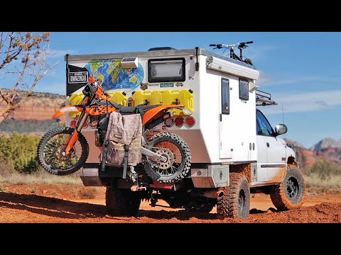 THE BEST MOTORCYCLE DIRTBIKE HAULER for your OFFROAD TRUCK CAMPER - Loading & Unloading