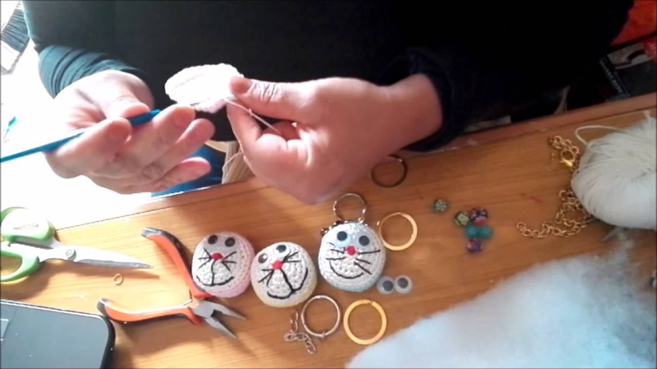 Crochet Doraemon Amigurumi : Portachiavi all uncinetto doraemon amigurumi youtube