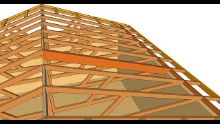 How To Turn Flat Engineered Roof Truss System into Cathedral Ceiling – Small Buildings