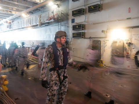 Malaysia Australia Inter Operability Training Onboard HMAS Adelaide