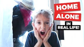 Home Alone In Real Life! Bandits Surround The House!