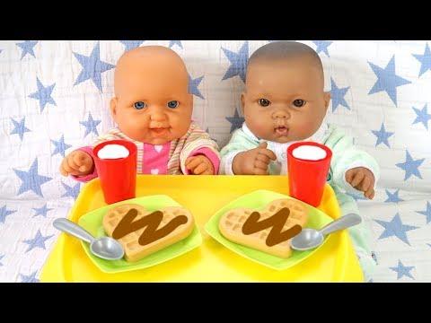 Куклы #Бьянка Алиса ЛЕНТЯЮШКИ Жарим Вафли Готовим Завтрак Мультик Для детей