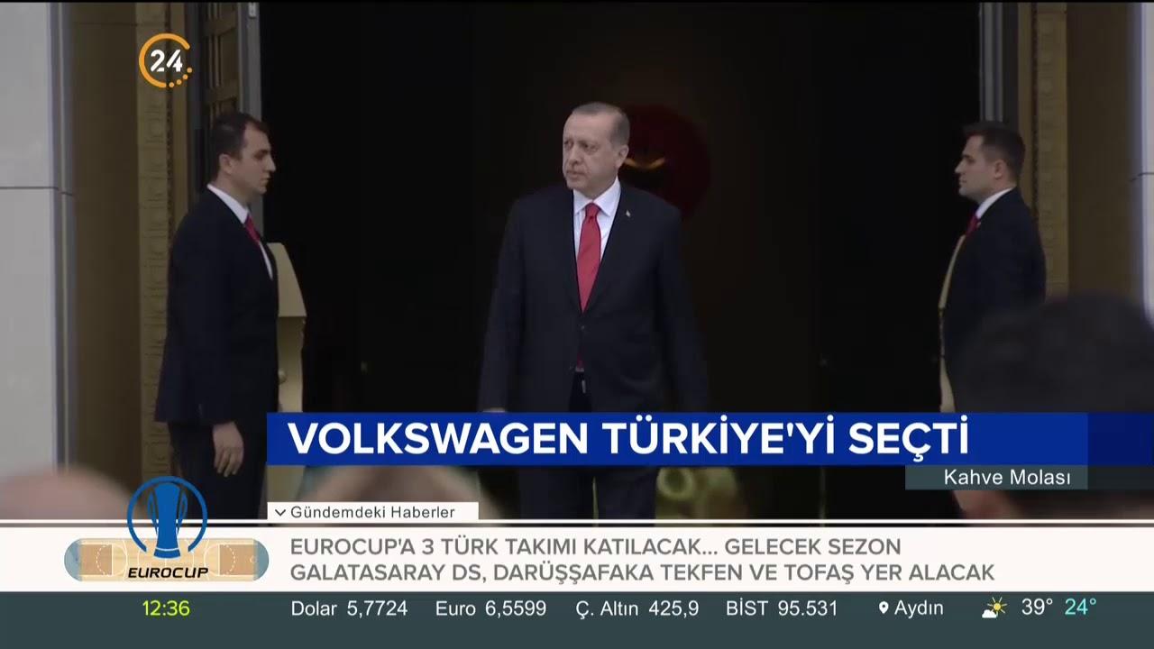 Alman otomotiv devi Volkswagen yatırım için Türkiye'yi seçti