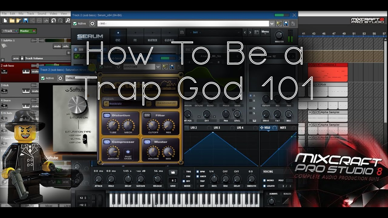 How To Make a Basic Trap Beat (with Drop) | Mixcraft 8 Tutorial (Free Stems  for Download)