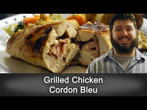Grilled Chicken Cordon Bleu - Ready, Set, Flambé: On the Grill