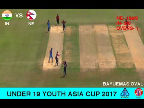 ACC U19 YOUTH ASIA CUP 2017 INDIA vs NEPAL 2nd Innings