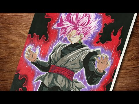 SPEED DRAWING GOKU BLACK SSJ ROSE (Dragon Ball Super)- Desenhando Goku black