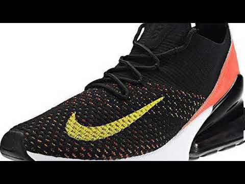 f3937a1c99 NIKE Air Max 270 Flyknit Womens AH 6803-003 Black/Yellow Strike Bright  Crimson