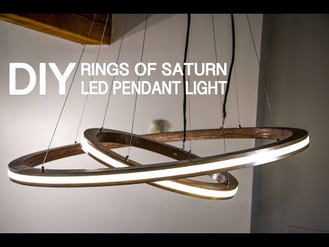 "DIY Music Reactive ""Rings Of Saturn"" LED Pendant Light (controlled By Arduino) 