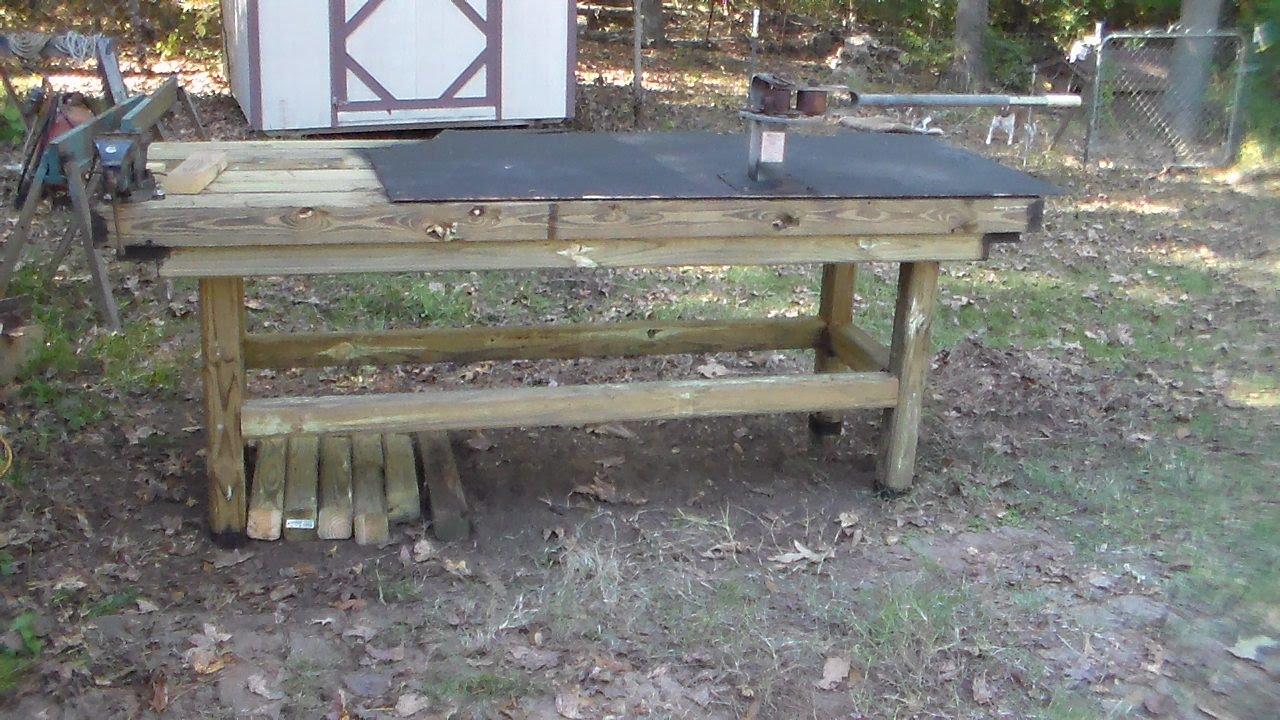 Heavy Heavy Duty Outdoor Work Table - YouTube