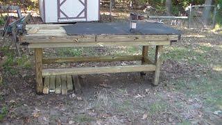 Heavy Heavy Duty Outdoor Work Table