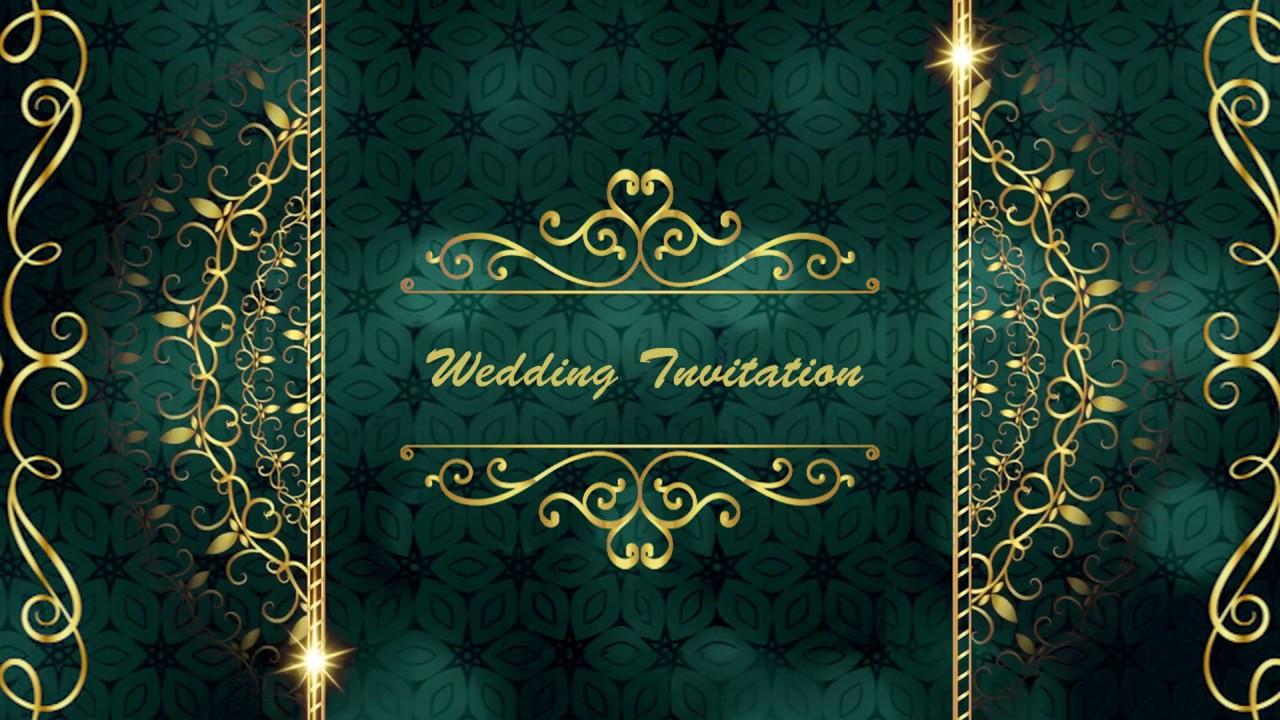 Wedding invitation video | Engagement Invitation Video | Free & Blank Video With Demo 0132