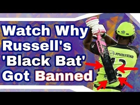 Watch Why Russell's ' Black Bat ' Banned By ICC & CA   MCP Trending