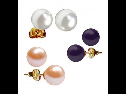 #jagdambapearls #pearljewelry #Pearlweek Simple pearl earrings with price| order online