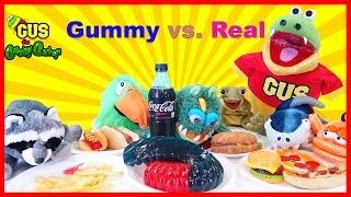 GUMMY FOOD VS. REAL FOOD CHALLENGE!
