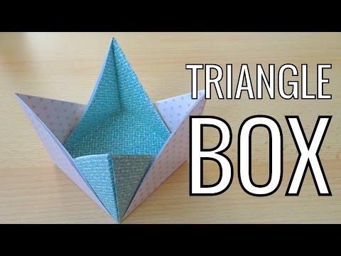 Easy Paper Triangle Box   Easy Origami Box