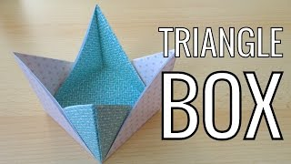Easy Paper Triangle Box | Easy Origami Box
