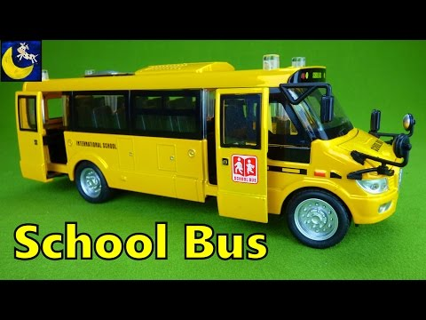 Mallya Lights and Sounds Pull Back School Bus Diecast Vehicle Toys for Kids