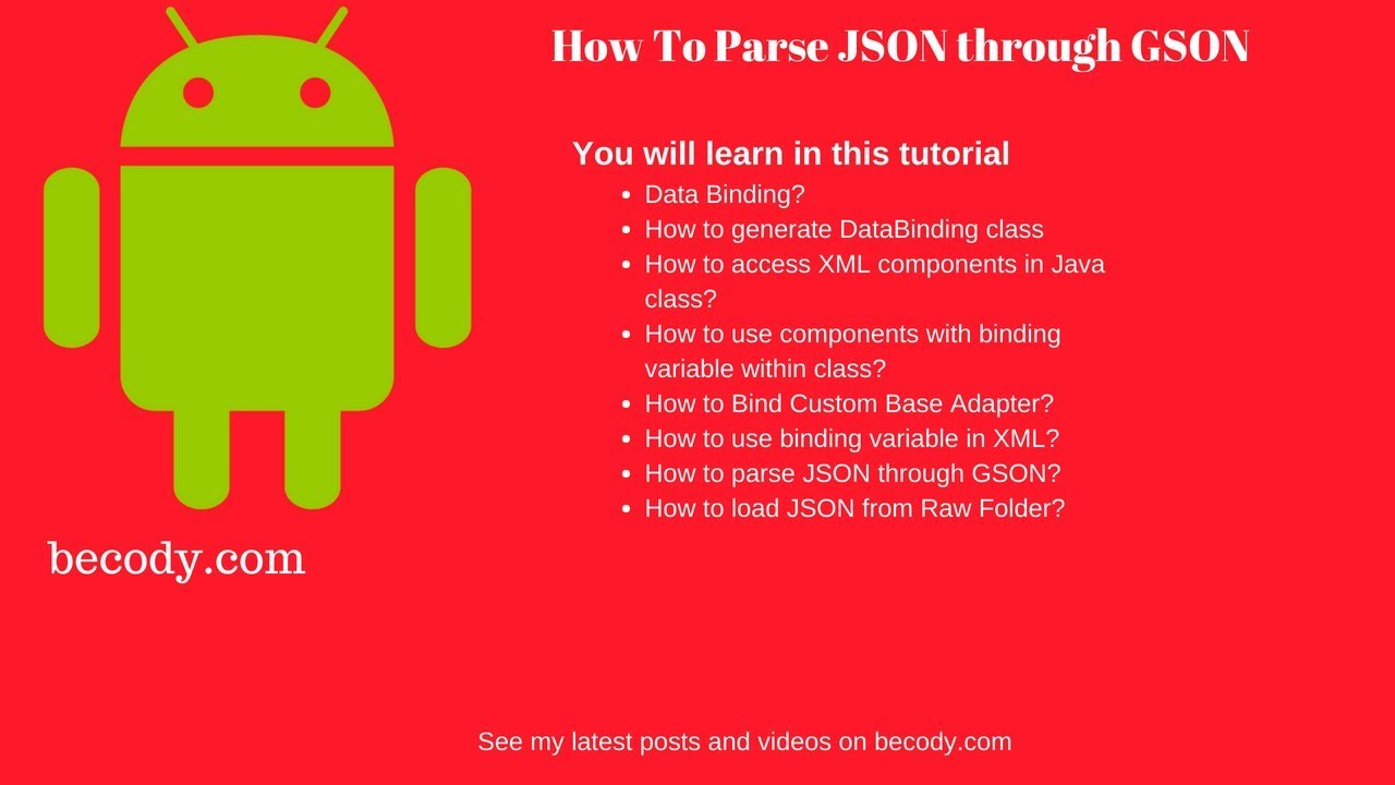 Parsing JSON on Android using GSON and DataBinding | Becody