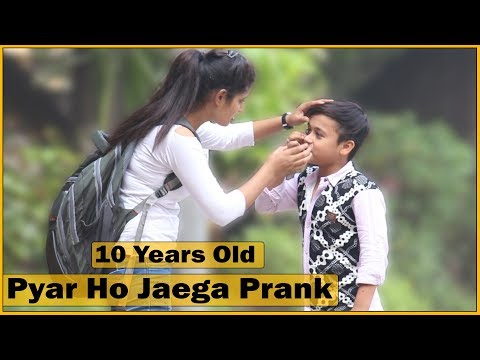 10 Years Old - Pyar Ho Jayega Prank on Girls by Kid   Prank In India   The HunGama Films