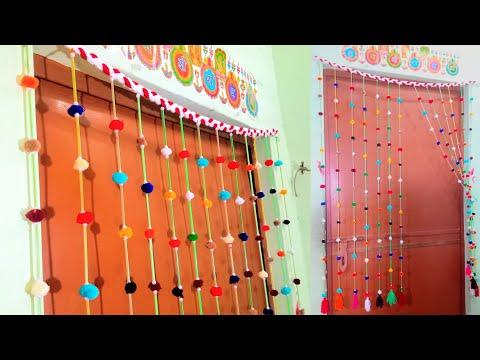 DIY Pom Pom Door Hanging | How to make Door Hanging Toran | Woolen Craft Idea