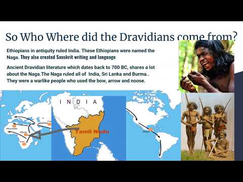 Ethiopian Origin Of The Tamils Or Dravidian  Indians,