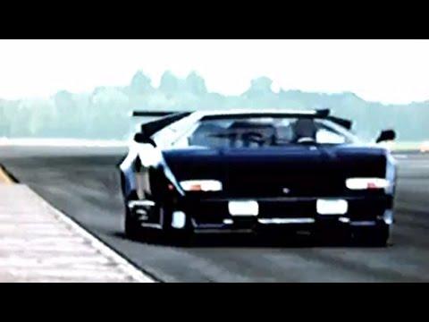 Black Lamborghini Countach Lapping The Top Gear Test Track ... | 480 x 360 jpeg 18kB