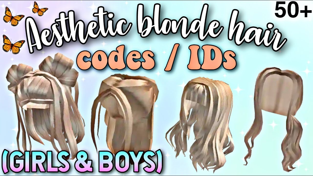 50 Aesthetic Blonde Hair Codes Ids For Bloxburg Girls Boys New Blonde Hair Decals Roblox Youtube
