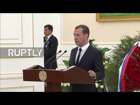 Uzbekistan: Medvedev expresses condolences to Uzbek nation after Karimov's death