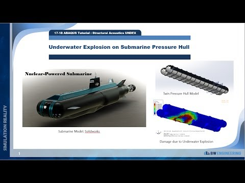 ABAQUS Tutorial | UNDEX, Underwater Explosion of Submarine Hull | Total Wave | 17-18