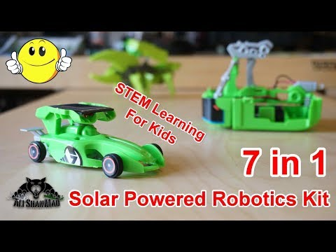 7 in 1 Rechargeable Solar Powered Cars Kit Provides Children STEM Learning