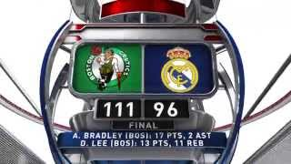 The spanish capital was host of thursday night's nba global games presented by bbva in which boston celtics defeated real madrid 96-111 at barclaycar...