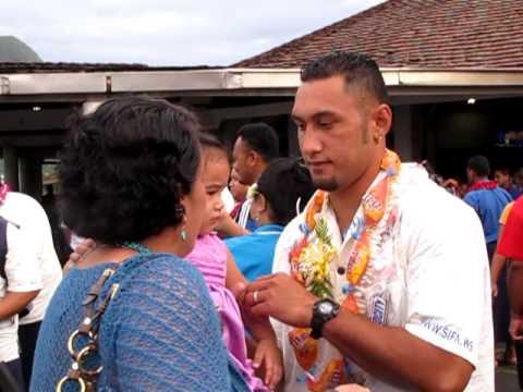 Manu Samoa Rugby Team Arrives in Pago Pago, American Samoa