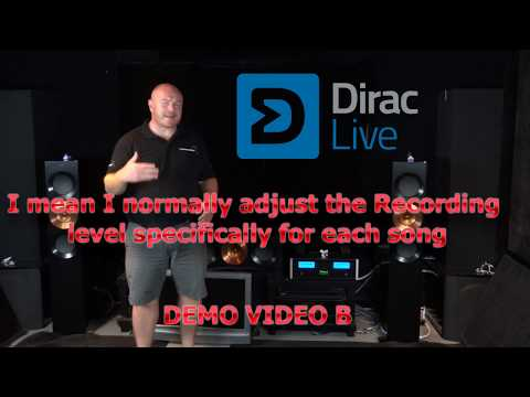 Dirac Live Demonstrated For Its Benefit To Music In Stereo Playback - Video B