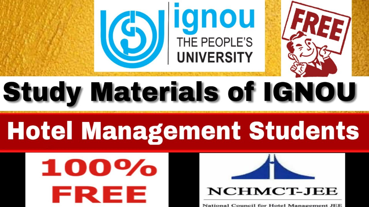Study Materials of IGNOU For Hotel Management Students | NchmctJee
