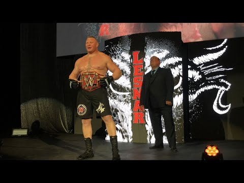 Universal Champion Brock Lesnar battles Sheamus at a WWE Live Event
