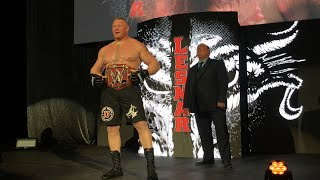 Universal Champion Brock Lesnar battles Sheamus at a WWE Live Event