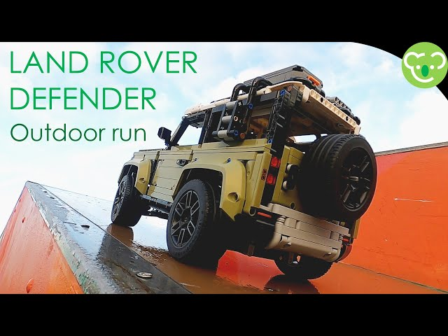 Motorized Land Rover Defender - Outdoor run. LEGO Technic powered by Buwizz and Sbrick