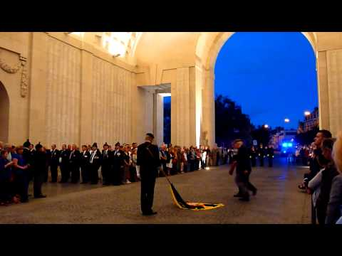 Last Post Ceremony, Menin Gate, Ypres / Ieper, Belgium - Sept 26th 2011