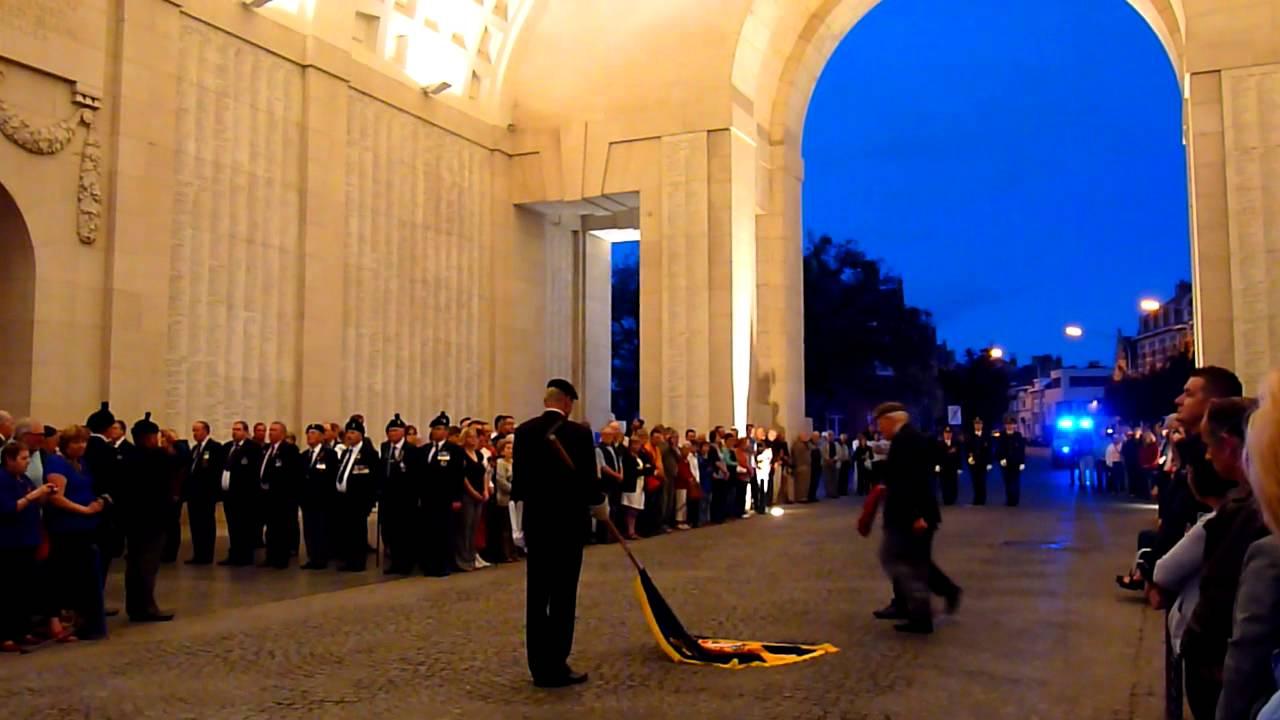 Last Post Ceremony, Menin Gate, Ypres / Ieper, Belgium ...