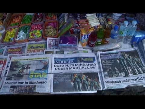 Manila residents react to martial law in Mindanao