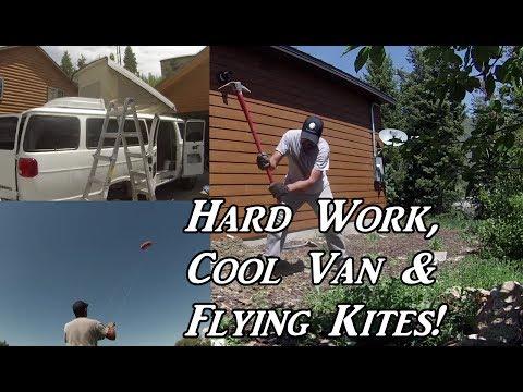 Hard Work, Cool Van & Flying Kites!  VanLife On the Road
