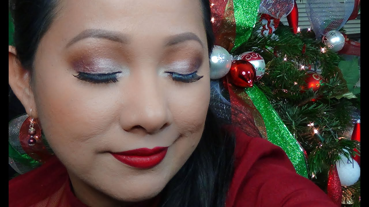 christmas party makeup tutorial youtube. Black Bedroom Furniture Sets. Home Design Ideas