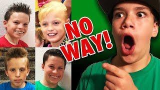 Ethan Fineshriber reacts to videos of Payton Myler, Ashton Myler, P...